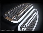 Jaguar XKR Mesh Hood Louvers (chrome, black, or custom)