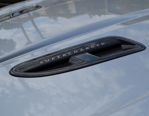 Jaguar XKR Carbon Fiber Hood Louvers