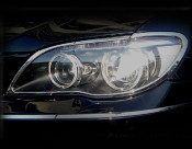 BMW 7 Series; 750 Chrome Headlight Trim Finisher set 2006-2008