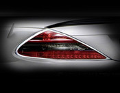 Mercedes SL Taillight  Chrome Trim Finisher set  2003-2008