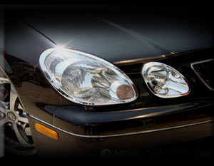 Lexus GS Headlight Chrome Trim Finisher Set 1998-2005