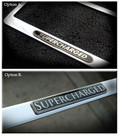 Supercharged Chrome License Plate Frame
