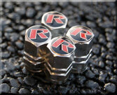 """R"" Performance Valve Stem Cap Set (Red option)"
