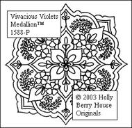 Vivacious Violets Medallion