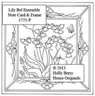 Lily Bell Ensemble Note Card & Frame