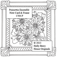 Poinsettia Ensemble Note Card & Frame