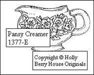 Pansy Creamer