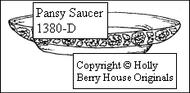Pansy Saucer
