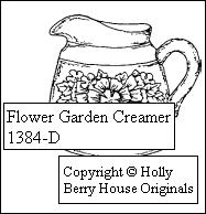 Flower Garden Creamer