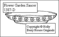 Flower Garden Saucer