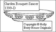 Garden Bouquet Saucer