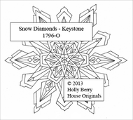 The Keystone Snow Diamond snowflake rubber art stamp.