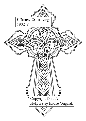 The Kilkenny Cross rubber art stamp.