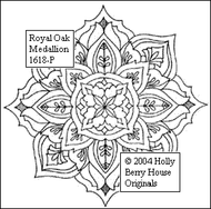 The Royal Oak Medallion rubber art stamp.
