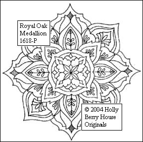 The Royal Oak Medallion rubber art stamp.