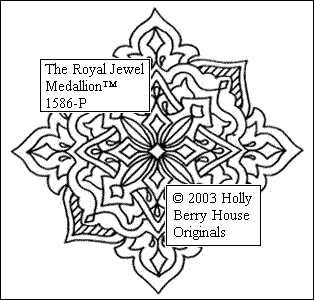 The Royal Jewel Medallion rubber art stamp.