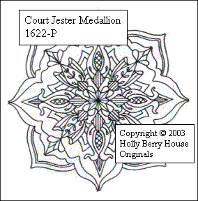 The Court Jester Medallion rubber art stamp.