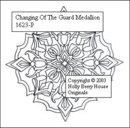 The Changing of the Guard Medallion rubber art stamp.