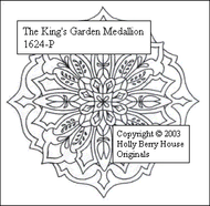 The King's Garden Medallion rubber art stamp.