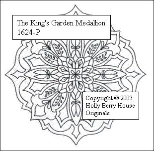 The King's Garden Medallion rubber art stamp.