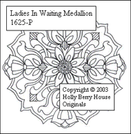 The Ladies in Waiting Medallion rubber art stamp.