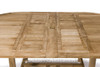 Double leaf extending table extended.
