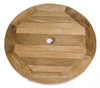You can add a free standing 60cm Lazy Susan to this table.