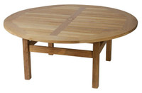 All Cotswold Teak tables have a hole and brass centre to take a 48mm parasol pole.