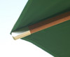 Picture of Cotswold Teak 2.5m Premium Parasol looking from underneath at spar dimension 28 x 20mm