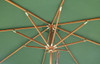 Picture of Cotswold Teak 2.5m Premium Parasol showing in more detail the riser & hub mechanism with pulley system.