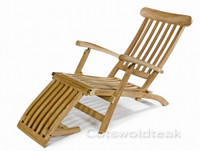 Cotswold teak steamer chair.