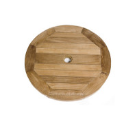 Free standing Lazy Susan all come with a centre hole to take a 48mm parasol pole.