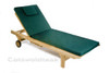 Cotswold teak Sun Lounger with a cushion.