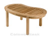 Cotswold Teak Cam coffee table, also known as the banana or peanut coffee table.