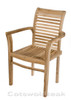 Tingewick Teak garden Stacking chair.