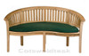 Cotswold teak Crummock Bench shown with a cushion.