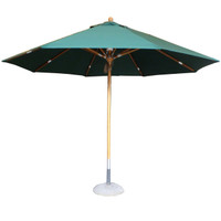 Cotswold Teak Broadway 3m Deluxe Parasol in Green