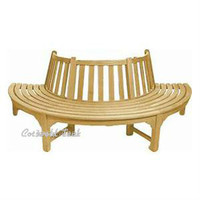 Cotswold Teak Half Tree bench.