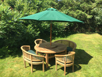 Chunky Crummock Set : Churn 160cm 4cm Thick Round Table