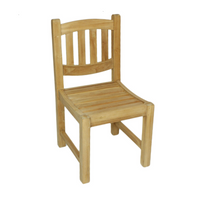 Grisdale Oval back teak side chair.