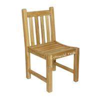 Grisdale straight back teak chair.