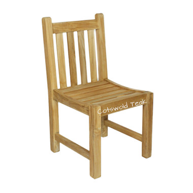 Grisdale straight back teak chair.