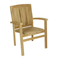 Henley Stacking arm  teak chair.