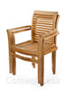 Tingewick Teak garden Stacking chair showing how they stack