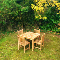 Marbrook 90x90 Table with 4 Grisdale Side Chairs