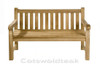 Cotswold Teak Windsor 150cm heavy duty Straight Back teak bench. Ideal for any setting, private or commercial.