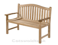 Cotswold Teak 120cm Arch back bench.