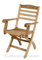 Cotswold Teak Wenlock Folding Arm Chair