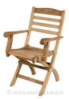 Cotswold Teak Wenlock Folding Arm Chair