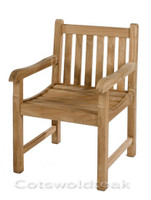 Cotswold Teak Grisdale arm chair. Very solid, built the same as the benches.